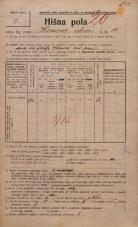Popis prebivalstva 20. 12. 1921<br />Ljubljana<br />Hrenova ulica 10<br />Population census 20 December 1921