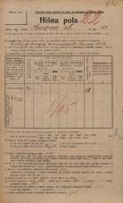 Popis prebivalstva 20. 12. 1921<br />Ljubljana<br />Hrenova ulica 12<br />Population census 20 December 1921