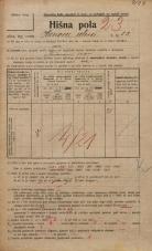 Popis prebivalstva 20. 12. 1921<br />Ljubljana<br />Hrenova ulica 13<br />Population census 20 December 1921