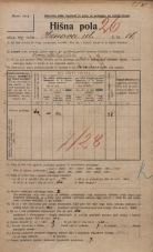Popis prebivalstva 20. 12. 1921<br />Ljubljana<br />Hrenova ulica 16<br />Population census 20 December 1921