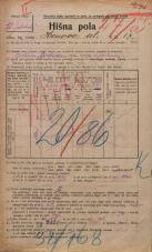 Popis prebivalstva 20. 12. 1921<br />Ljubljana<br />Hrenova ulica 17<br />Population census 20 December 1921