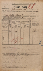 Popis prebivalstva 20. 12. 1921<br />Ljubljana<br />Hrenova ulica 18<br />Population census 20 December 1921