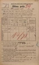 Popis prebivalstva 20. 12. 1921<br />Ljubljana<br />Hrenova ulica 19<br />Population census 20 December 1921