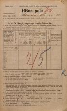 Popis prebivalstva 20. 12. 1921<br />Ljubljana<br />Hrenova ulica 20<br />Population census 20 December 1921
