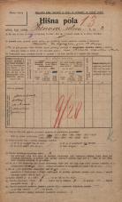 Popis prebivalstva 20. 12. 1921<br />Ljubljana<br />Hrenova ulica 3<br />Population census 20 December 1921
