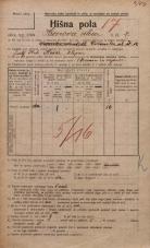Popis prebivalstva 20. 12. 1921<br />Ljubljana<br />Hrenova ulica 7<br />Population census 20 December 1921