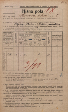 Popis prebivalstva 20. 12. 1921<br />Ljubljana<br />Hrenova ulica 8<br />Population census 20 December 1921
