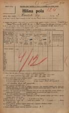 Popis prebivalstva 20. 12. 1921<br />Ljubljana<br />Hrvatski trg 3<br />Population census 20 December 1921