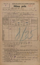 Popis prebivalstva 20. 12. 1921<br />Ljubljana<br />Hrvatski trg 4<br />Population census 20 December 1921