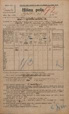 Popis prebivalstva 20. 12. 1921<br />Ljubljana<br />Igriška ulica 11<br />Population census 20 December 1921
