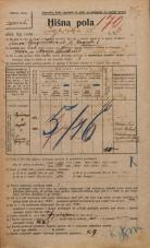Popis prebivalstva 20. 12. 1921<br />Ljubljana<br />Igriška ulica 6<br />Population census 20 December 1921