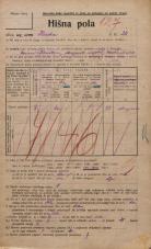 Popis prebivalstva 20. 12. 1921<br />Ljubljana<br />Ilirska ulica 20<br />Population census 20 December 1921