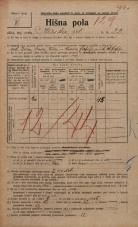 Popis prebivalstva 20. 12. 1921<br />Ljubljana<br />Ilirska ulica 22<br />Population census 20 December 1921