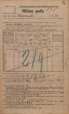 Popis prebivalstva 20. 12. 1921<br />Ljubljana<br />Ilirska ulica 25<br />Population census 20 December 1921