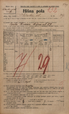 Popis prebivalstva 20. 12. 1921<br />Ljubljana<br />Ilirska ulica 29<br />Population census 20 December 1921
