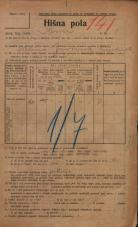 Popis prebivalstva 20. 12. 1921<br />Ljubljana<br />Ilovca 1<br />Population census 20 December 1921