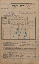 Popis prebivalstva 20. 12. 1921<br />Ljubljana<br />Ilovca 11<br />Population census 20 December 1921