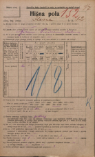 Popis prebivalstva 20. 12. 1921<br />Ljubljana<br />Ilovca 12<br />Population census 20 December 1921