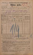 Popis prebivalstva 20. 12. 1921<br />Ljubljana<br />Ilovca 13<br />Population census 20 December 1921