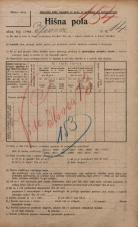 Popis prebivalstva 20. 12. 1921<br />Ljubljana<br />Ilovca 14<br />Population census 20 December 1921