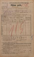 Popis prebivalstva 20. 12. 1921<br />Ljubljana<br />Ilovca 16<br />Population census 20 December 1921