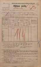 Popis prebivalstva 20. 12. 1921<br />Ljubljana<br />Ilovca 17<br />Population census 20 December 1921