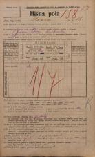 Popis prebivalstva 20. 12. 1921<br />Ljubljana<br />Ilovca 18<br />Population census 20 December 1921