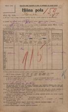 Popis prebivalstva 20. 12. 1921<br />Ljubljana<br />Ilovca 19<br />Population census 20 December 1921