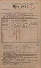 Popis prebivalstva 20. 12. 1921<br />Ljubljana<br />Ilovca 22<br />Population census 20 December 1921