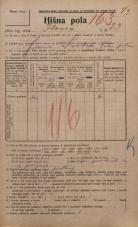 Popis prebivalstva 20. 12. 1921<br />Ljubljana<br />Ilovca 23<br />Population census 20 December 1921