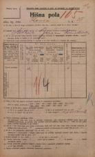 Popis prebivalstva 20. 12. 1921<br />Ljubljana<br />Ilovca 25<br />Population census 20 December 1921