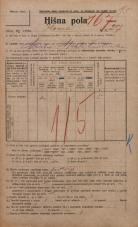 Popis prebivalstva 20. 12. 1921<br />Ljubljana<br />Ilovca 27<br />Population census 20 December 1921