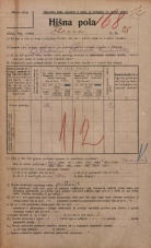 Popis prebivalstva 20. 12. 1921<br />Ljubljana<br />Ilovca 28<br />Population census 20 December 1921