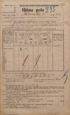 Popis prebivalstva 20. 12. 1921<br />Ljubljana<br />Ižanska cesta 42<br />Population census 20 December 1921