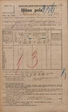 Popis prebivalstva 20. 12. 1921<br />Ljubljana<br />Ižanska cesta 44<br />Population census 20 December 1921