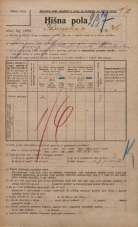 Popis prebivalstva 20. 12. 1921<br />Ljubljana<br />Ižanska cesta 46<br />Population census 20 December 1921