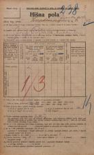 Popis prebivalstva 20. 12. 1921<br />Ljubljana<br />Ižanska cesta 47<br />Population census 20 December 1921