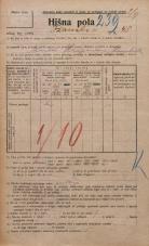 Popis prebivalstva 20. 12. 1921<br />Ljubljana<br />Ižanska cesta 48<br />Population census 20 December 1921