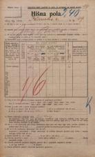 Popis prebivalstva 20. 12. 1921<br />Ljubljana<br />Ižanska cesta 49<br />Population census 20 December 1921