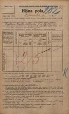 Popis prebivalstva 20. 12. 1921<br />Ljubljana<br />Ižanska cesta 5<br />Population census 20 December 1921