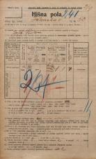 Popis prebivalstva 20. 12. 1921<br />Ljubljana<br />Ižanska cesta 50<br />Population census 20 December 1921