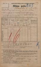 Popis prebivalstva 20. 12. 1921<br />Ljubljana<br />Ižanska cesta 52<br />Population census 20 December 1921