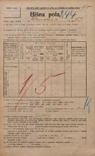 Popis prebivalstva 20. 12. 1921<br />Ljubljana<br />Ižanska cesta 53<br />Population census 20 December 1921
