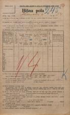 Popis prebivalstva 20. 12. 1921<br />Ljubljana<br />Ižanska cesta 54<br />Population census 20 December 1921