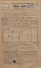 Popis prebivalstva 20. 12. 1921<br />Ljubljana<br />Ižanska cesta 8<br />Population census 20 December 1921