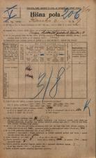 Popis prebivalstva 20. 12. 1921<br />Ljubljana<br />Ižanska cesta 9<br />Population census 20 December 1921