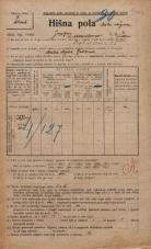 Popis prebivalstva 20. 12. 1921<br />Ljubljana<br />Japljeva ulica 2<br />Population census 20 December 1921