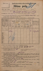 Popis prebivalstva 20. 12. 1921<br />Ljubljana<br />Japljeva ulica 3<br />Population census 20 December 1921