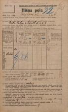 Popis prebivalstva 20. 12. 1921<br />Ljubljana<br />Japljeva ulica 4<br />Population census 20 December 1921