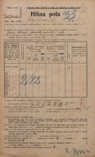 Popis prebivalstva 20. 12. 1921<br />Ljubljana<br />Japljeva ulica 5<br />Population census 20 December 1921